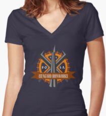 Isengard Ironworks Women's Fitted V-Neck T-Shirt