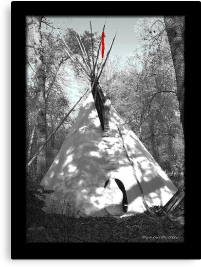 Black Crow's Tipi  by Madeline M  Allen