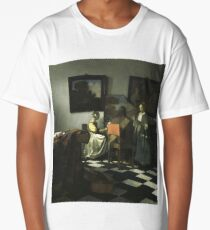 Stolen Art - The Concert by Johannes Vermeer Long T-Shirt