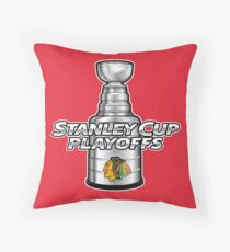 Chicago Blackhawks NHL Playoffs Throw Pillow
