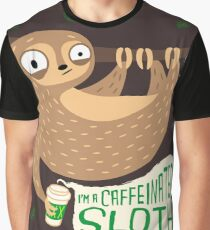Caffeinated Sloth Graphic T-Shirt