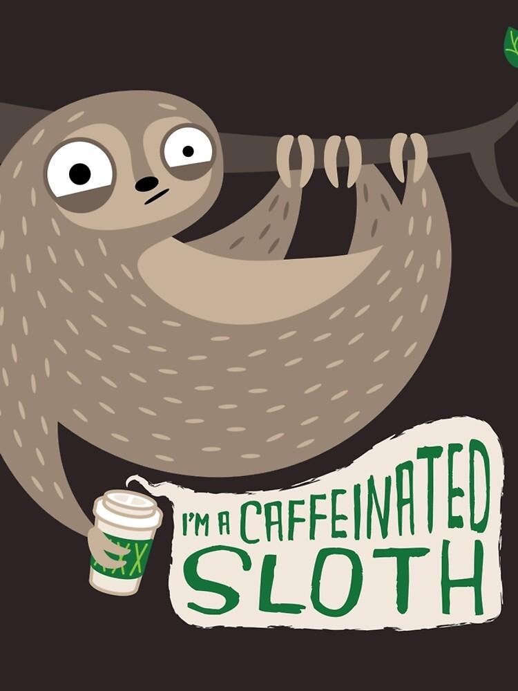 Caffeinated Sloth by murphypop