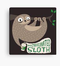 Caffeinated Sloth Canvas Print