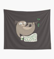 Caffeinated Sloth Wall Tapestry