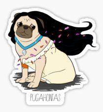Pugahontas Sticker