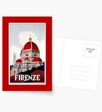 Florence Firenze 1920er Jahre italienische Reiseanzeige, Duomo Postkarten