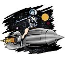 Retro Rocket Girl by simonbreeze