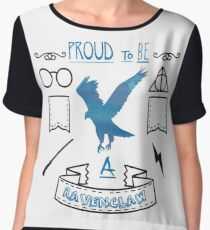 Proud to be a Ravenclaw Chiffon Top
