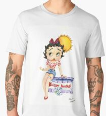Betty Boop in a Kissing Booth Men's Premium T-Shirt