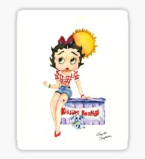 Betty Boop in a Kissing Booth Sticker