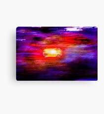 Abstract Painted Photograph Canvas Print