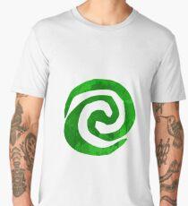Green Swirl Inspired Silhouette Men's Premium T-Shirt