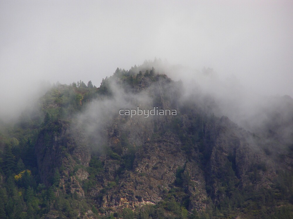 foggy mountain by capbydiana