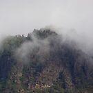 foggy mountain by capbydiana