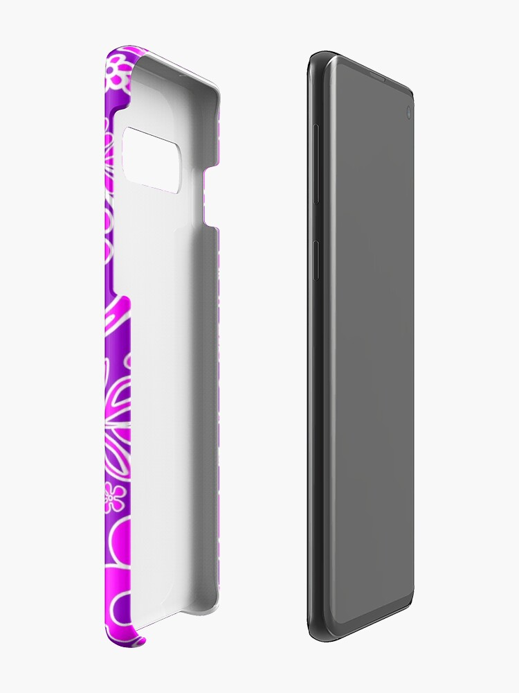 Alternate view of Hibiscus Pink and Purple Pattern  Case & Skin for Samsung Galaxy