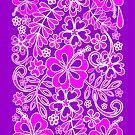 Hibiscus Pink and Purple Pattern  by BluedarkArt