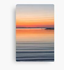 Ripples sea and sky Canvas Print
