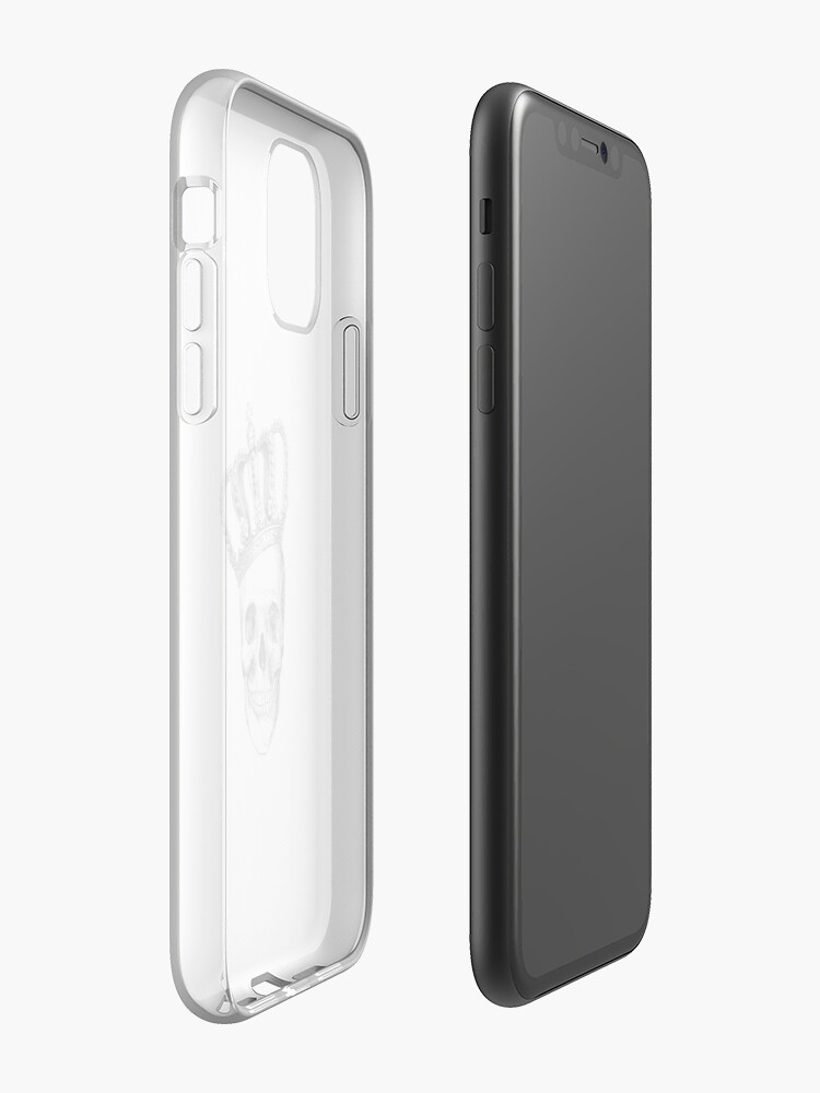 Alternate view of Grinding Skull With Crown iPhone Case & Cover
