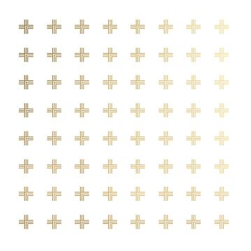 Geometric Plus Sign Pattern (Gold) by starkle