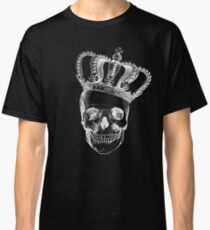 Grinding Skull With Crown Classic T-Shirt