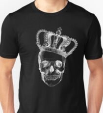 Grinding Skull With Crown Unisex T-Shirt