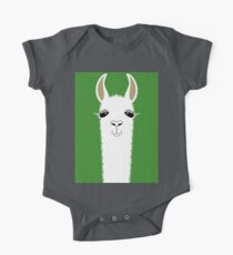 LLAMA PORTRAIT #2 One Piece - Short Sleeve