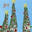 Joy, Christmas Card by Rebekah  McLeod