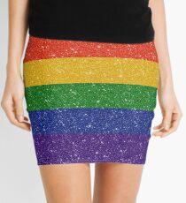 Glitter Rainbow Pride Flag Mini Skirt