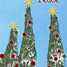 Peace, Christmas Card by Rebekah  McLeod