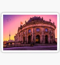 Bode Museum on Purple Skies Sticker