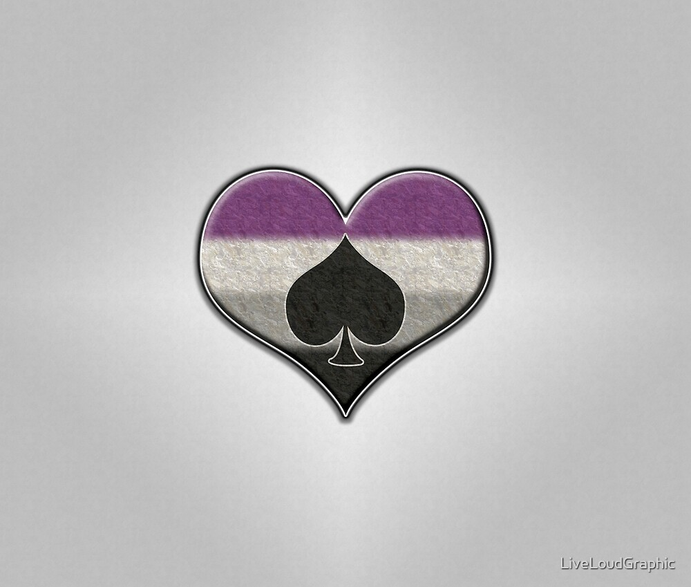 Asexual Pride Heart with Ace by LiveLoudGraphic