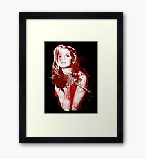Splatter Buffy Framed Print