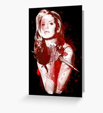 Splatter Buffy Greeting Card