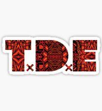 TDE LOGO AFRICAN PATTERN Sticker