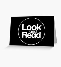 Look and Read (just the logo) Greeting Card
