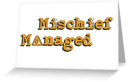 Mischief Managed by jxckkkk