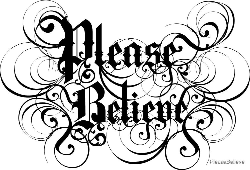 Please Believe Logotype by PleaseBelieve