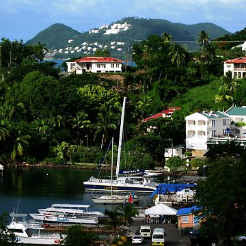 An inlet in Castries St. Lucia by sholder