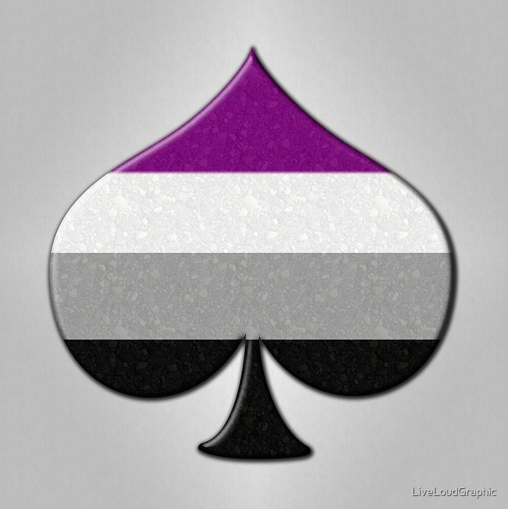 Asexual Pride Ace Symbol by LiveLoudGraphic