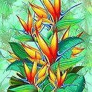 Bird of Paradise Flower Exotic Nature by BluedarkArt
