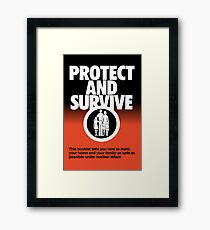 NDVH Protect and Survive Framed Print