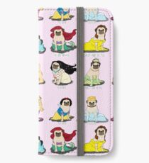 Princesses Pug Étui portefeuille/coque/skin iPhone