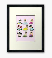 Pug Princesses Framed Print