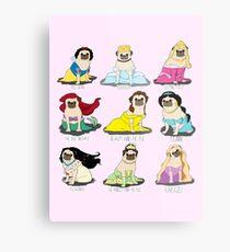 Pug Princesses Metal Print