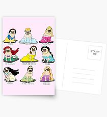 Princesses Pug Cartes postales