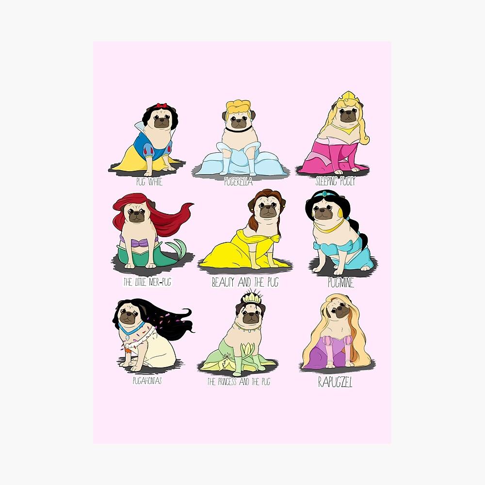 Mops Prinzessinnen Fotodruck