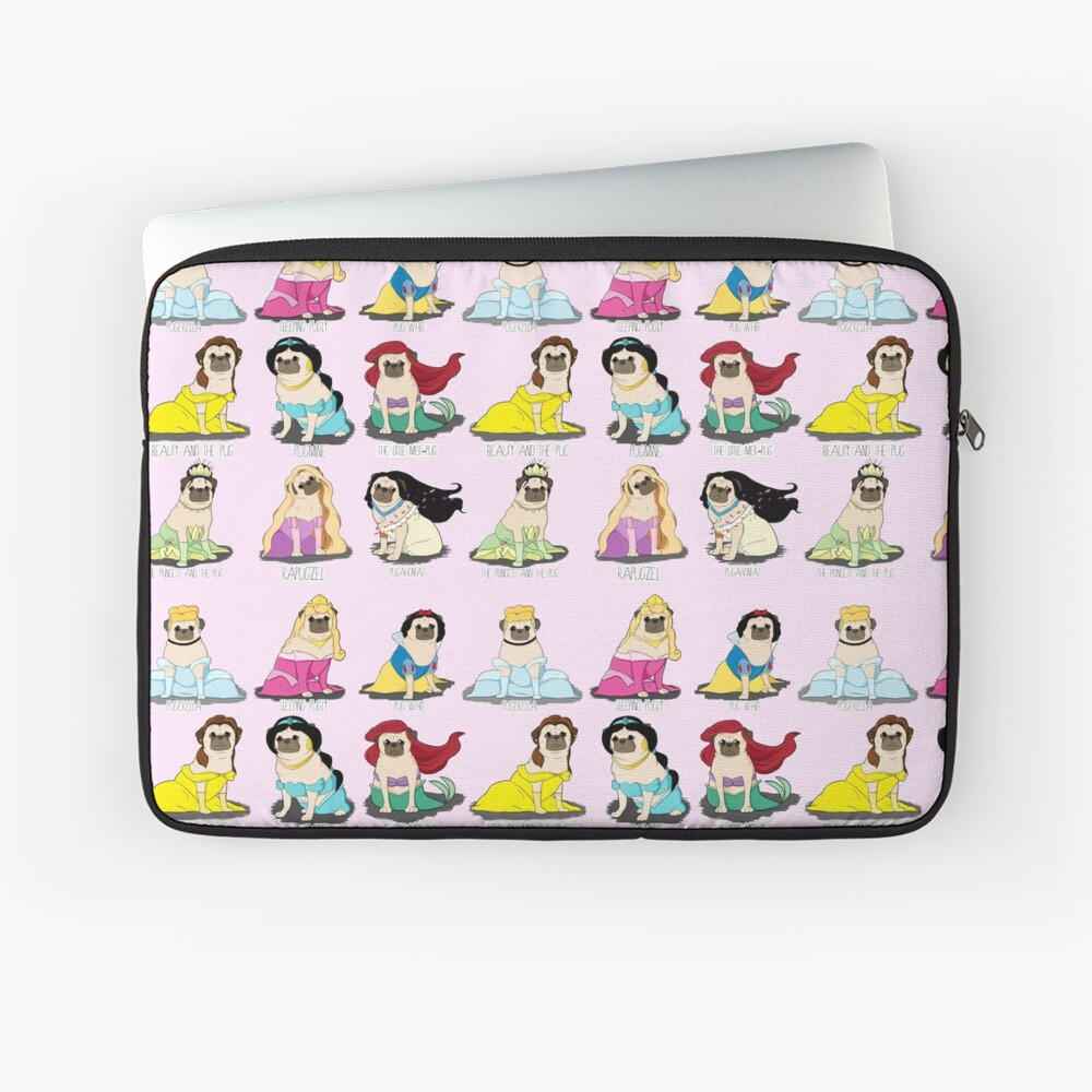 Pug Princesses Laptop Sleeve Front