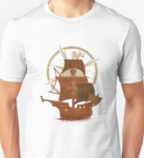 Pirate Mystery Ship Unisex T-Shirt