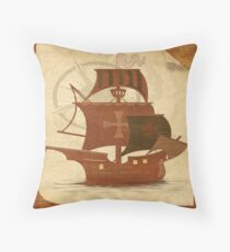 Pirate Mystery Ship Throw Pillow