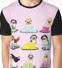 Mops Prinzessinnen Version 2 Grafik T-Shirt